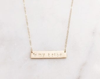 TRIBE | Tribe Necklace | I Love My Tribe Necklace | Gold Tribe Necklace | My Tribe Necklace | Gold Mom Necklace | Necklace For Moms Gold