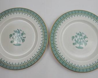 2 Theodore Haviland Cambridge Green Dinner Plates