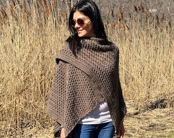 Crochet Ponshawl PATTERN, Poncho Crochet Pattern, Crochet Wrap, Capelet, Shrug Pattern, PDF, Garment Pattern, Crochet Top, Crochet for Women