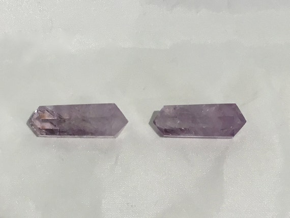 Beautiful AMETHYST POINTS// Cut Double-Terminated Point// Healing Gemstones// Home Decor// Healing Tools// Crystal Points// Healing Crystals