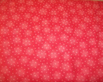 Blank 6383 Coral, marbled coral with off white stars
