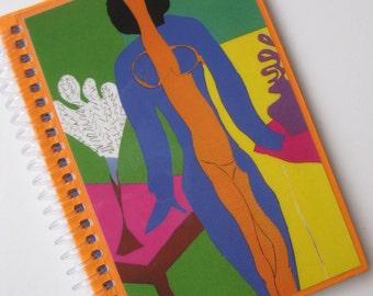 Unique Matisse A6 (11x15cm) 'cut-out' print spiral-bound  notebook.
