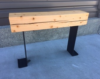 Re-claimed Timber Beam Table