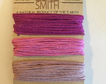 Natural Hemp Cord, 20lb test, Ruby Shades