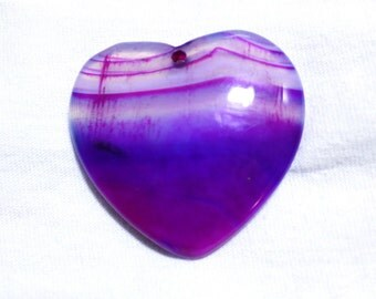 Banded Agate Heart Focal Bead 46mm x 46mm x 6mm F7015