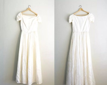 Vintage 1950s Lace Wedding Dress | Vintage Bridal Gown | Lace Wedding Dress