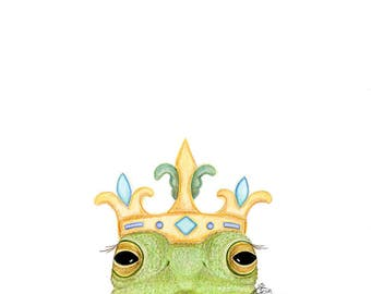 Frog Painting | Etsy