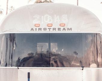 Airstream Trailer Print, Palm Springs Photography, Airstream Decor, California Wall Art, Airstream Photo, Vintage Camper, Desert Wall Art