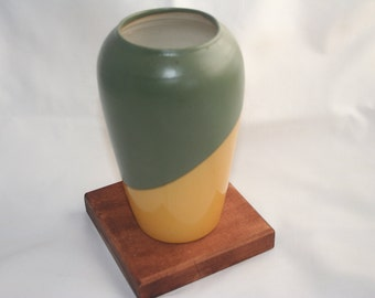 Green and Yellow Vase