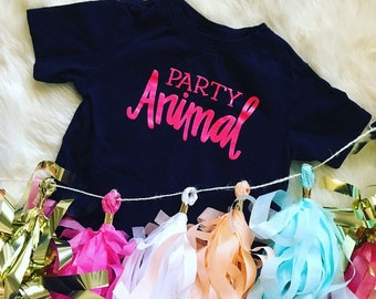 Party Animal T Shirt {Pink or Blue}