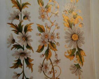 Ceramic Gold Floral decals