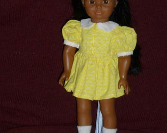 "18"" Doll Yellow ""Shirley Temple"" Dress"