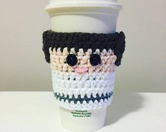 Princess Leia Cup Cozy ~ Star Wars Cup Cozy ~ Cup Sleeve - Crochet Cup Cozy ~ Cup Hug