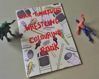 I Love Wrestling Colouring Book - Activity book - for wrestling fans