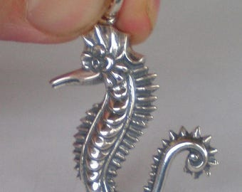 For Sale Seahorse Silver Pendant - Hippocampus