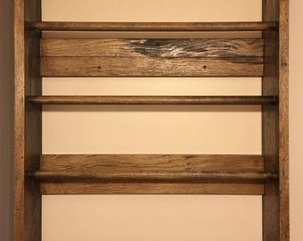 Towel Rack from reclaimed wood