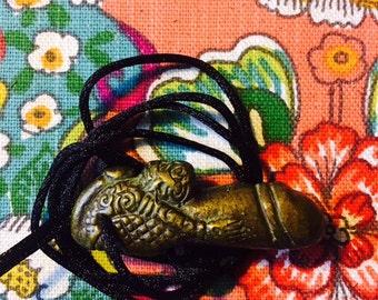 Thai Palad Khik amulet with Tiger