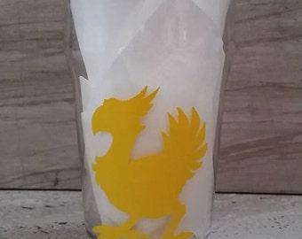 Chocobo Inspired Pub Glass