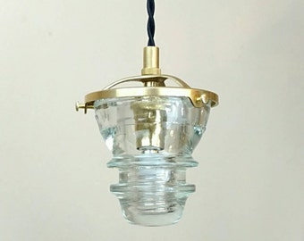 Insulator Pendant Light - LED Glass Insulator Pendant Light - Telegraph Insulator Light