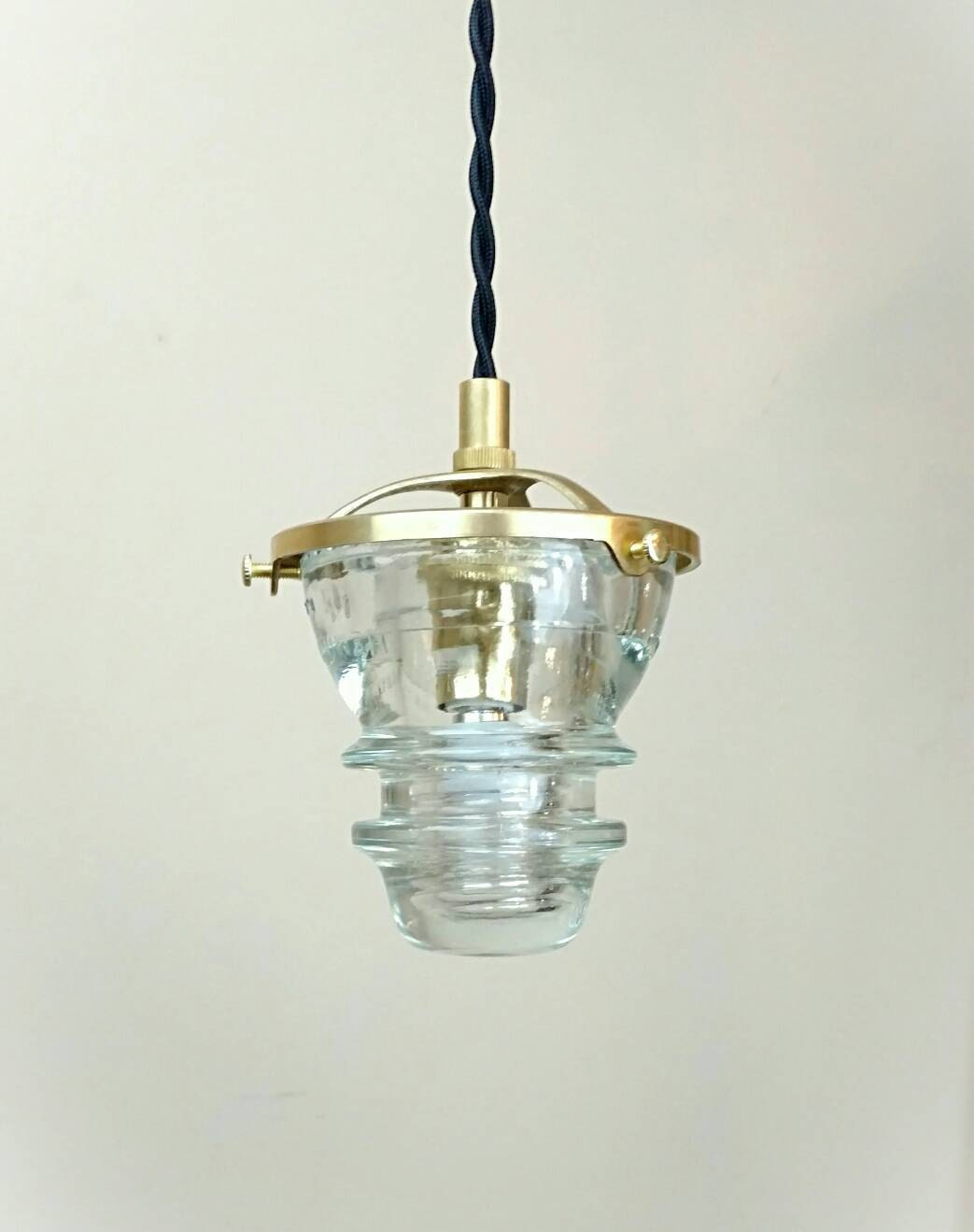 Insulator pendant light led glass insulator pendant light for Antique insulator pendant lights