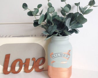 Faux eucalyptus bouquet / artificial flowers