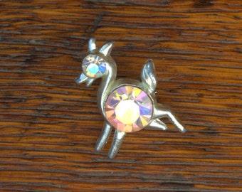 AB Silver Deer Brooch Pin