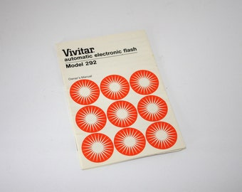 Vivitar Automatic Electronic Flash Owners Manual Model 292