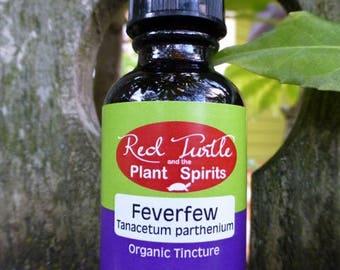 Feverfew tincture (Tanacetum parthenium), organic