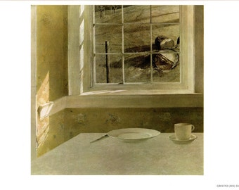 Ground hog Day and Cider and Pork are large prints painted by Andrew Wyeth. The page is approx. 16 1/2 inches wide and 13 inches tall.