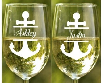 Beach Theme Wedding~ Champagne Flutes~ Champagne Glasses~ Personalized Wine Glasses~ Custom Wine Glasses~ Custom Glasses~ Personalized Gift
