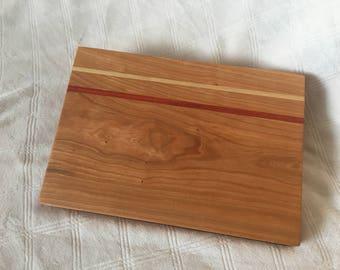 Cherry + African Padauk + Ash Cutting Board