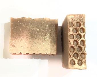 Honey Blossom Soap, Honey Soap,  Cold Process Soap, Flower Soap, Honeycomb Soap, Lavender Soap, Homemade Soap, Handmade Soap, Orange Soap