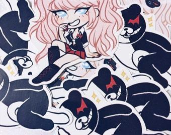 "Danganronpa - Monokuma & Junko Sticker Pack - 3"""