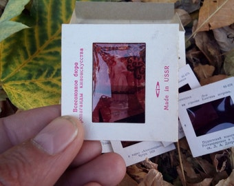 "Vintage slide frame, Diapositive photo slides, ""Neighborhood Leningrad Pavlovsk"" photo slides, Retro photography, Diapositive"