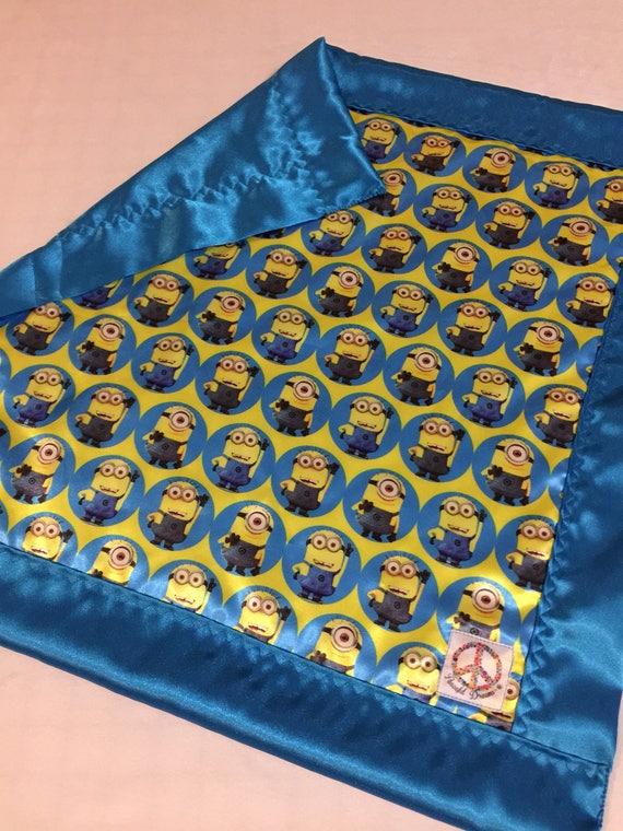 Minion silky Baby blanket, Silky blanket, Stroller blanket, Lovey, silky, Homemade.