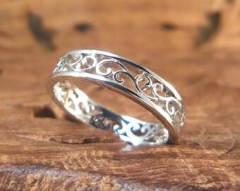 Sterling Swirls Ring - women's Sterling silver ring