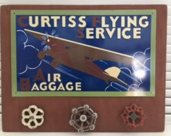 Vintage Curtiss Flying Service Sign