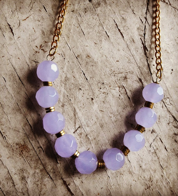 Lilac Glass Necklace, Glass Necklace