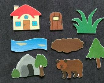 Going On A Bear Hunt Felt Set// Flannel Board // Imagination // Children // Preschool // Creative Play // Adventure // Song