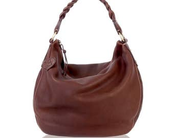 Eldenberry, Leather Shoulder Bag, Leather Hobo Bag, Leather Casual Bag, Top A Grade Buttery Soft Cow Leather