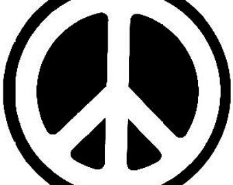 """Peace Sign sticker // 4"""" inch vinyl decal // choose White or Black"""