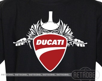 T-Shirt DUCATI, Black, Classic Racer,Motorbike gift, Motorcycles, 100% Cotton, Graphic Tee,