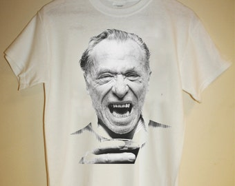 Charles Bukowski T Shirt Cult Beat Poetry Poet Writer LA Author Beatnik Ham On Rye Transgressive Barfly Retro 60s 70s 80s Indie S M L XL XXL