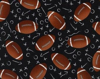 Football Fabrics / Football Yardage / football Fabric by The yard / Timeless Treasures c1228 / Fat Quarters and Yardage