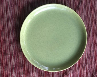 Laurel Pottery,Green Platter,Speckle Platter,Pottery Platter,Chop Plate,California Platter,Century Serving,California Serving,Retro Platter