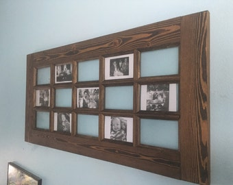 Large Wood Frame (wood picture frame, french door frame, rustic picture frame, wood frame, wood window frame, 4x6 frame)