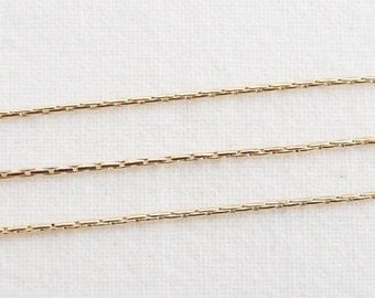 B5-37-G] Gold plated / 0.7mm / Snake Chain / 1 meter