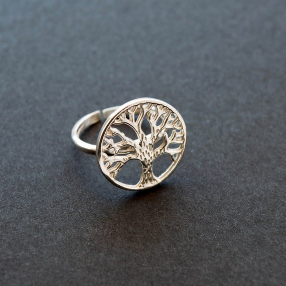 items similar to tree of ring jewelry silver tree