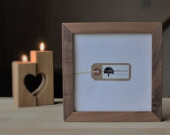 6x6 Wooden photo frames - 6 x 6 - square walnut picture frames