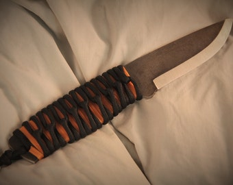 A2 Tool Steel Knife Classic Bushcraft knife Paracord Wrap